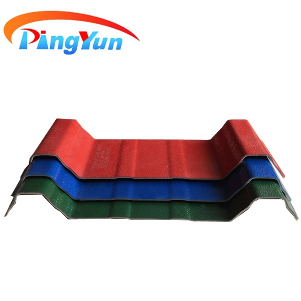 Building material Uv resisted corrugated plastic roof sheet