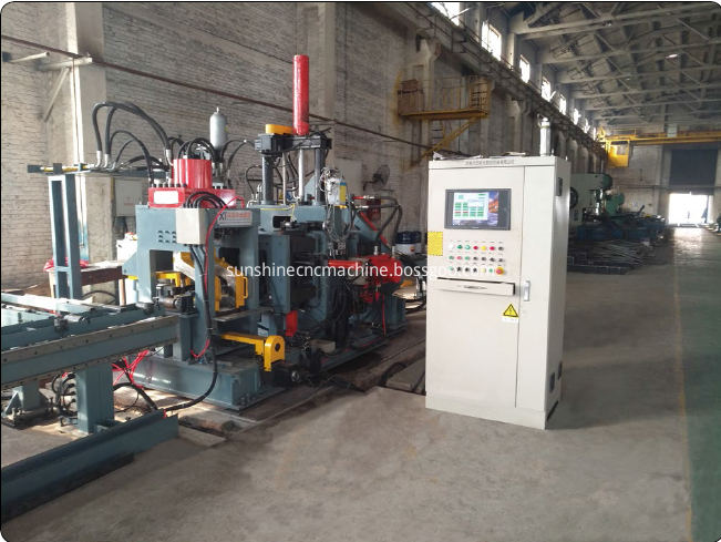 Angle channel band steel punching shearing line