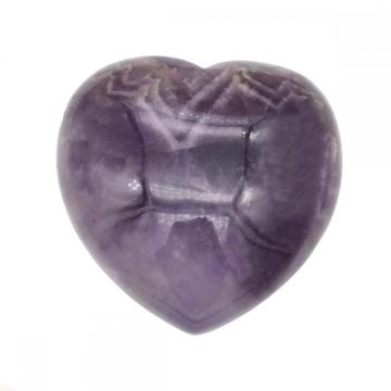 Natural Real 40X40X20MM Amethyst Heart  for women Chakra healing Jewelry without hole