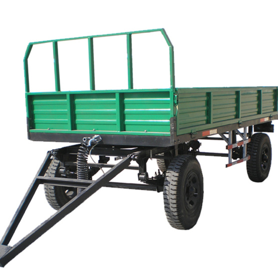 Agricultural double axle 4 wheel hydraulic tipping trailer