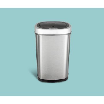 3-13 Gallon Automatic Sensor Trash Bin Stainless Steel Waste Bin for Household