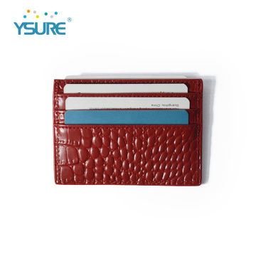 Factory Price Pu Leather Business Credit Card Holder