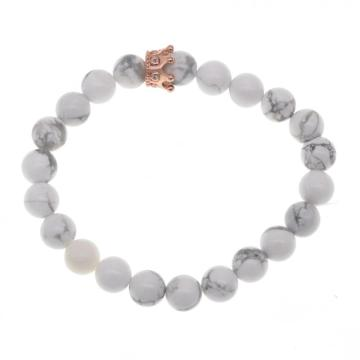 Cheap Wholesale Howlite Rose Gold Crown Bracelet For Fashion