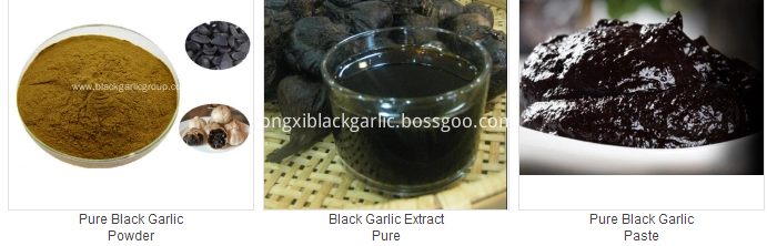 black garlic food