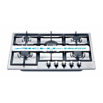 5 Burners Stainless Steel Home Natural Gas Hob