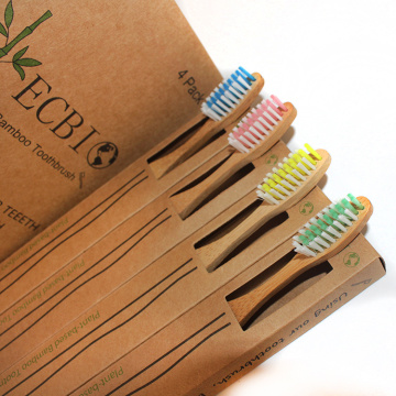 OEM 100% Biodegradable Organic Eco Bamboo Toothbrush