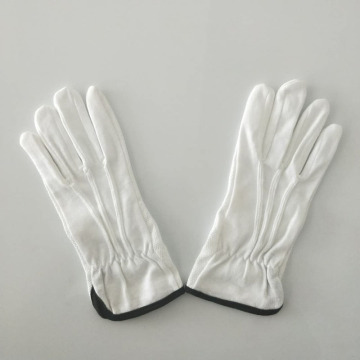 uniform white inspection gloves with logo embroidery