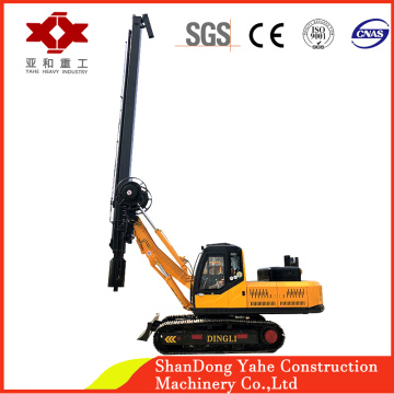 Small hydraulic piling rig machine