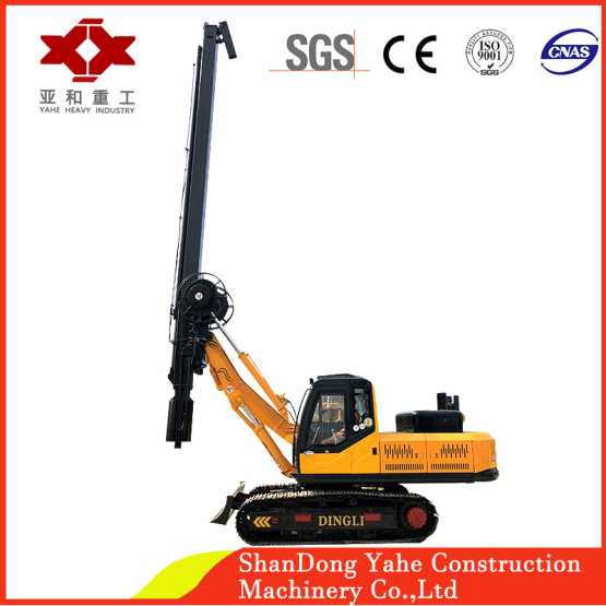 Crawler type square rod hydraulic rotary drilling rig