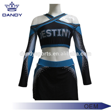 custom backless sublimted cheerleading squad