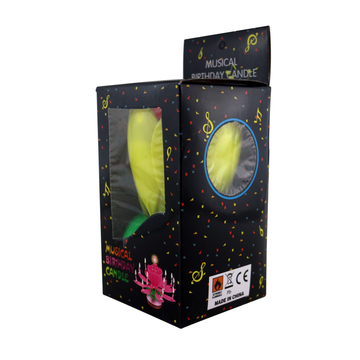 Wholesale lotus 14 mini birthday music candle