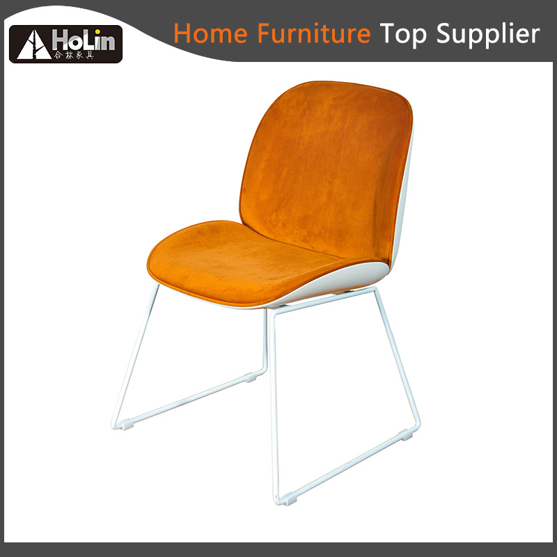 Modern Design Fabric Upholstered Pp Leg Dining Chair