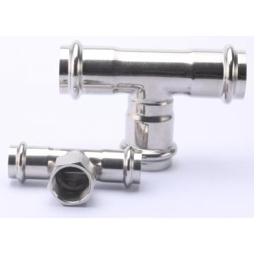 Stainless Steel Tee SUS Pipe Press Fitting