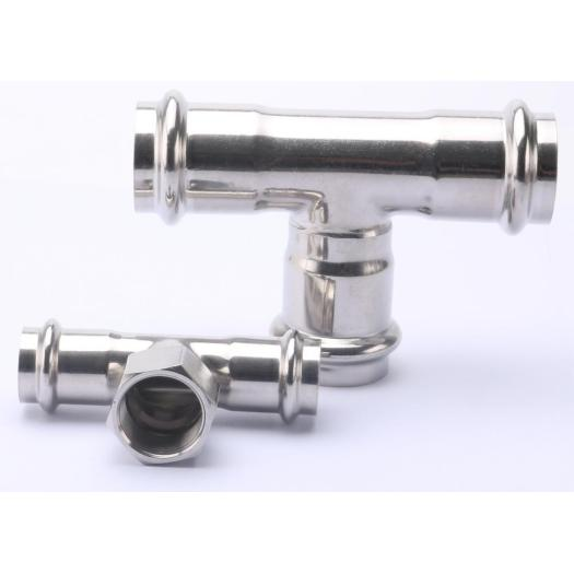 Stainless Steel V Press Fitting Pipe Tee