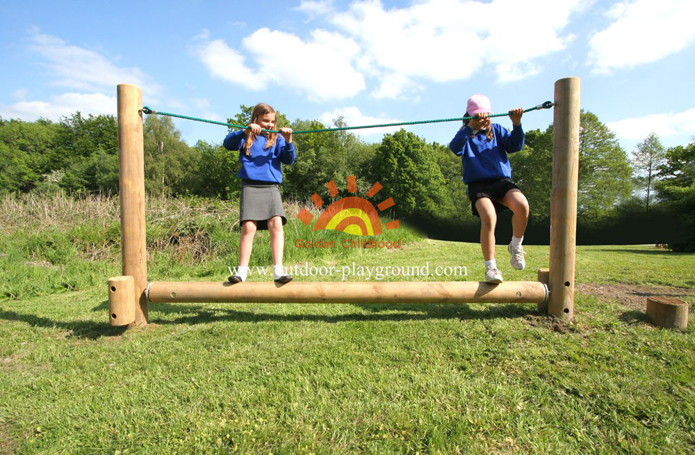 Children S Wooden Roll Rope Balance Park