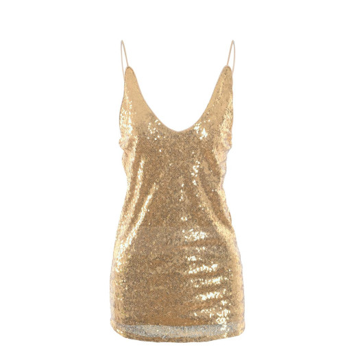 Hot Style V-neck Sequins Sexy Ladies Vest Tops