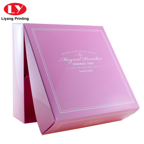 Customized Printing Glossy Tea Storage Gift Box