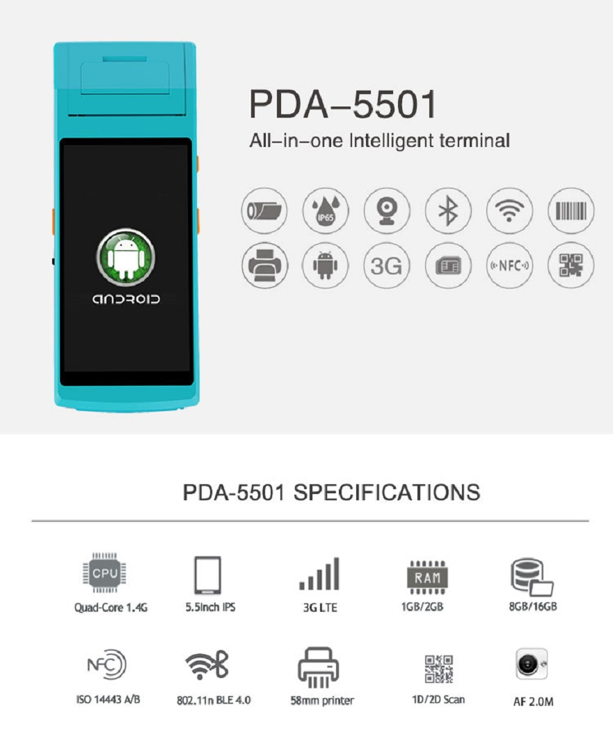 Handheld pda with printer 1205 (1)
