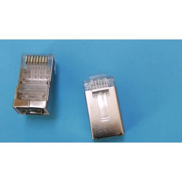 RJ45 8P8C 50U Cat6 shielded connector