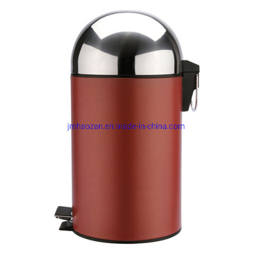 Stainless Steel Pedal Waste Bin, Dustbin with Half Round Lid