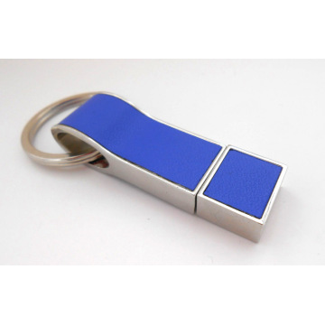 OEM Leather Stainless steel USB Flash Memory Stick