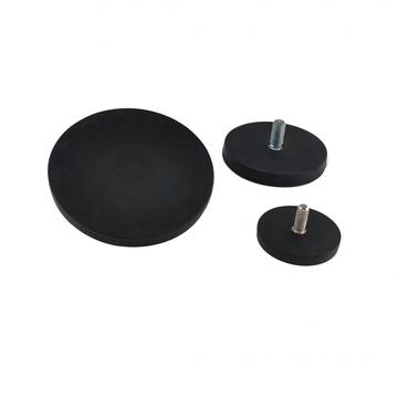 Black Rubber Coated Round Base Magnet