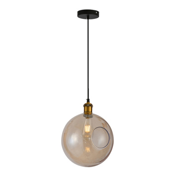 Modern Indoor Decorative Glass Round Ball Pendant Lamp
