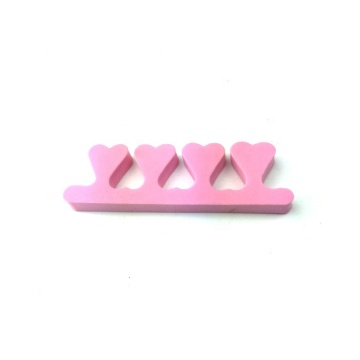 High Good Quality Heart Shape Nail Polish Fingers Toe Separators for Nail Manicure