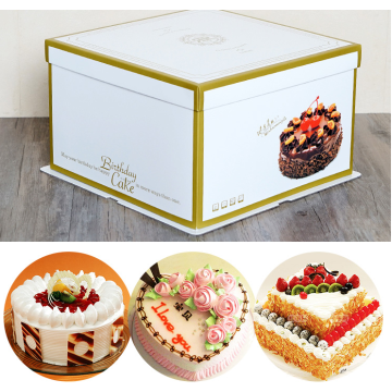 Paper box packaging design for cake