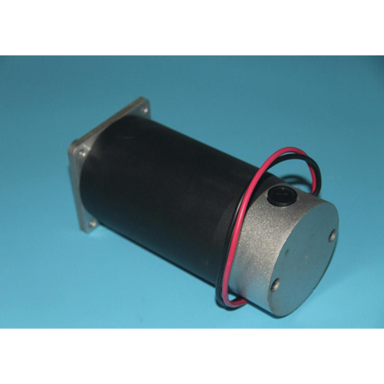 High torque curve compact 90mm brushed DC motors closed 12 volt dc motor