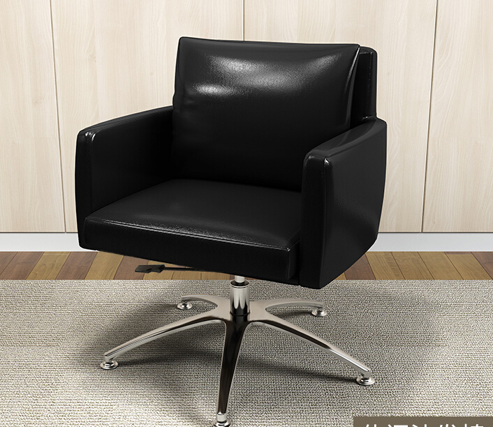 Black Color Low Back PU Leather Rotating Leisure Armchair