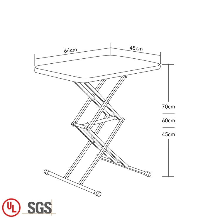 Adjust-height Folding Portable Table