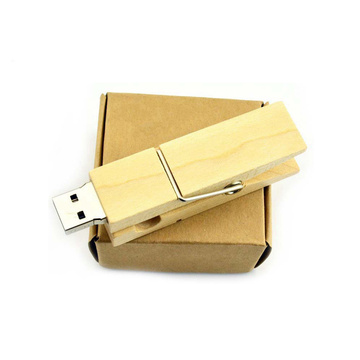 Wooden clip usb flash drive creativo gift