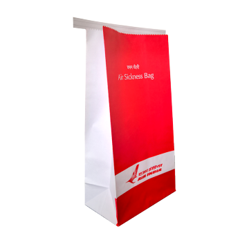 Square bottom PE coated waterproof vomit paper bags