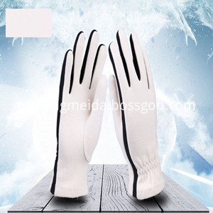 Fleece Gloves White