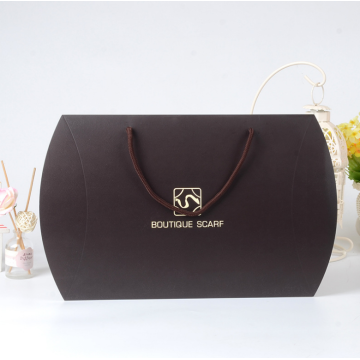 Custom black pillow shape gift box for scarf