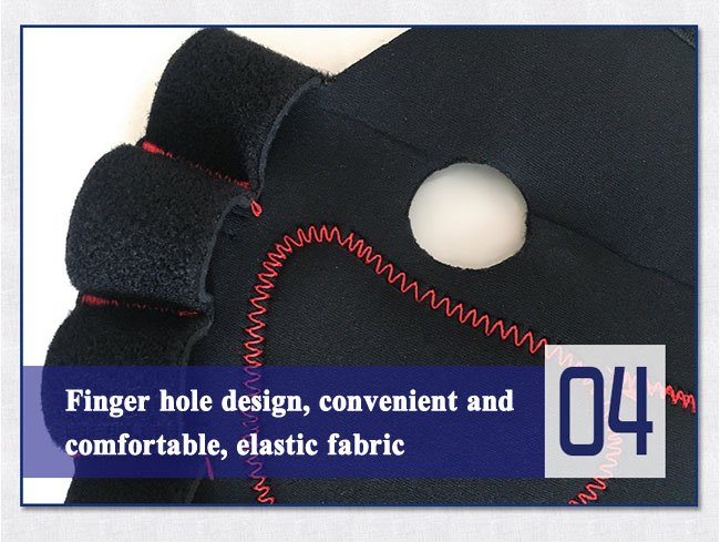 finger hole design wrist brace