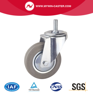 Thread Stem Rubber Europe Type Industrial Caster