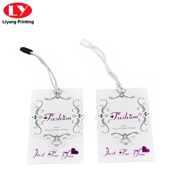 New design luxury clothing paper label tag