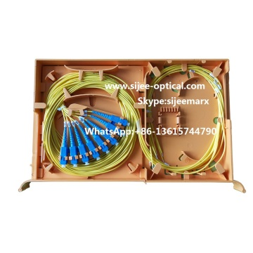 Fiber optic Splice  Tray Loaded with Pigtails Adapter
