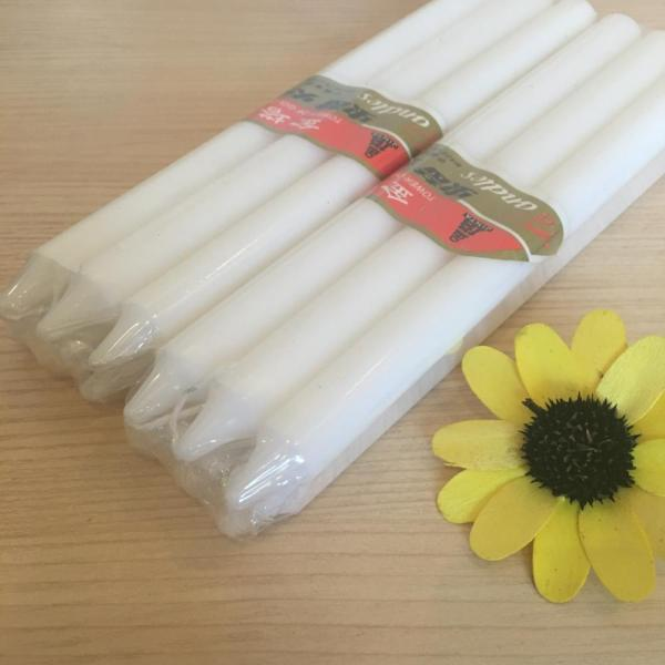 stick shape white snow wax color candle bougies
