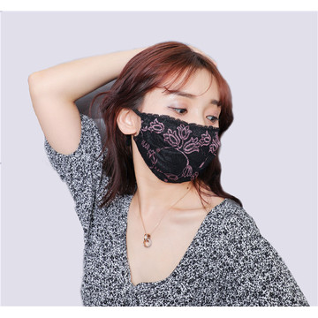 French lace imitation silk mask