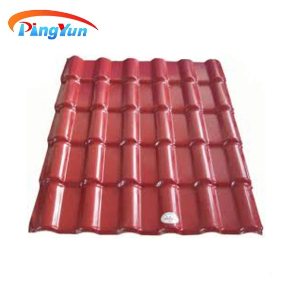 Excellent heat insulation spanish synthetic resin roof tiles