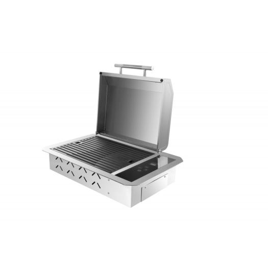 Electric Stainless Steel Indoor Griddle witht Lid