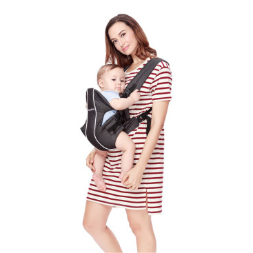 Breathable Cotton Solid Color Baby Carrier