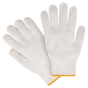 Basic White Cottom Knitting Working Glove