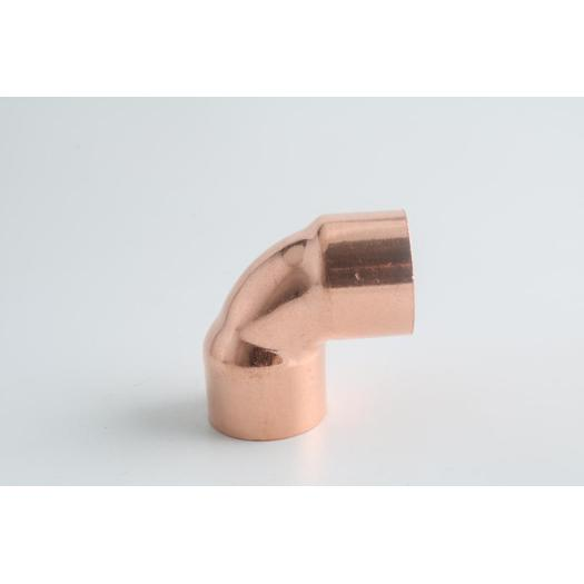 Copper end feed fitting 90 elbow