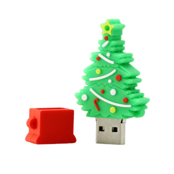 pvc usb christmas tree cartoon usb flash drive