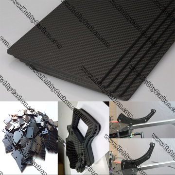 3K Real carbon fiber cnc cutting plate