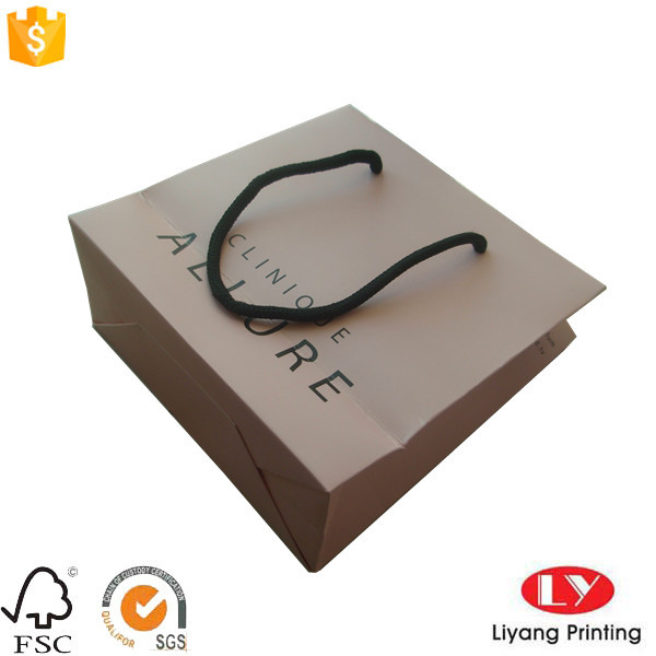 Matte Customized paper gift bag for jewelry